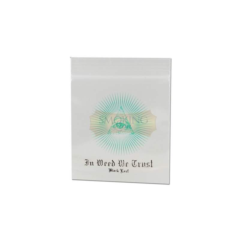 Black Leaf In Weed We Trust Baggy 35x35mm 100er Pack